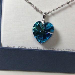 Heart shaped Pendant made with Swarovski Crystal